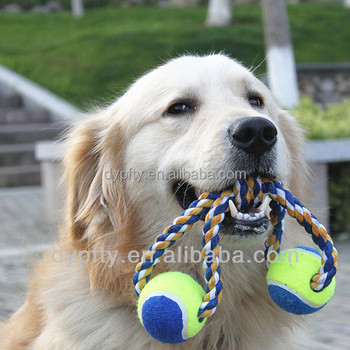 pet chewing toy tennis balls
