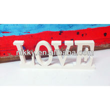Decorative wooden words love