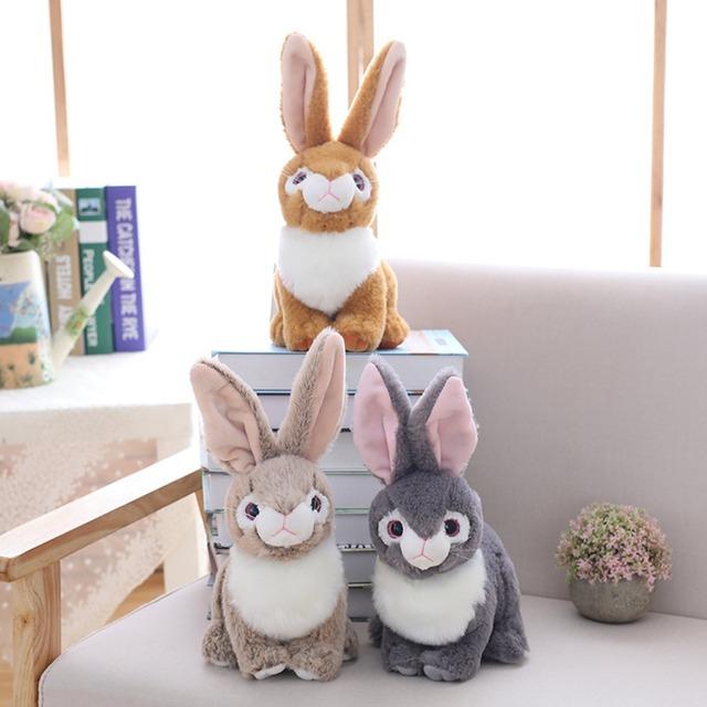 25 cm Beanie Boo Eyes Stuffed Animal Bunny Rabbit Plush Soft Placating Toys Brand For Children Wholesale