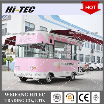 Imperial Ice Cream Edition Environmental Protected Electric Drive Mobile Food Cart for Multifunctions