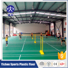 Top Sales High Quality 8mm PVC Plastic Sports Flooring For Badminton Court Rubber Flooring