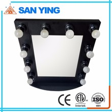 Wholesale cheap theatrical vanity girl hollywood led makeup mirror with light, lighted makeup