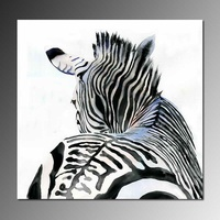 High quality modern abstract art oil painting hand-painted zebra theme, hotel decorative wall art paintings