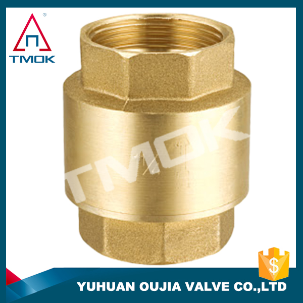 "TMOK 1/2"" dn15 internal thread vertical check valve for water pumb copper brass check valve for air compressor"