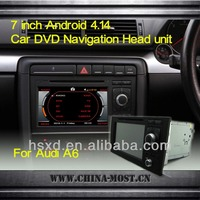 Capacitive Screen Android 4.14 Car head unit 2Din DVD Player for Audi A6 GPS Navigation 3G 4G WIFI BT TV Radio