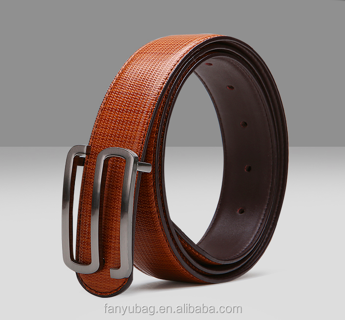 New arrival men's Smooth buckle leather brand names belts