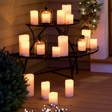 Factory wholesale waterproof led flameless tea light candle with battery
