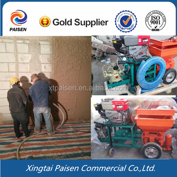automatic cement /mortar construction spray plaster machine for brazil/peru