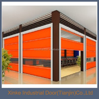 Food grade automatic plastic industrial rapid roller door with automatic sensor HSD-029