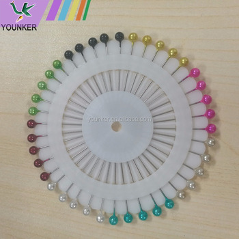 Cheap price multicolor wheels packing plastic pearl head straight pin