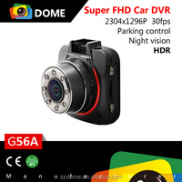 FullHD 1296P car dvr camera Ambarella A7 chipset car dvr recorder G56A Vehicle Blackbox DVR Camera Car