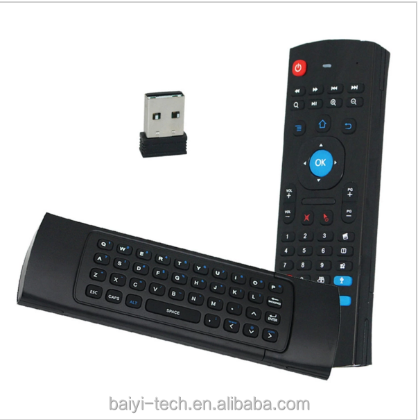 MX3 Mini Keyboard 2.4G Wireless Qwerty Keyboard+Air Fly Mouse+IR Remote Control