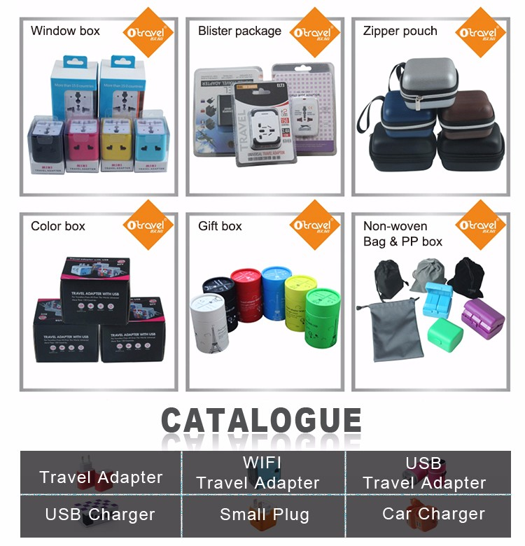 Travelling accessories SL-182 Otravel business gifts all in one travel adapter 4 plugs converter
