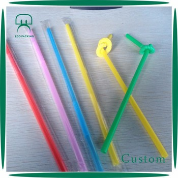 PP folding fronzen theme drinking straw for fruit juice,milk
