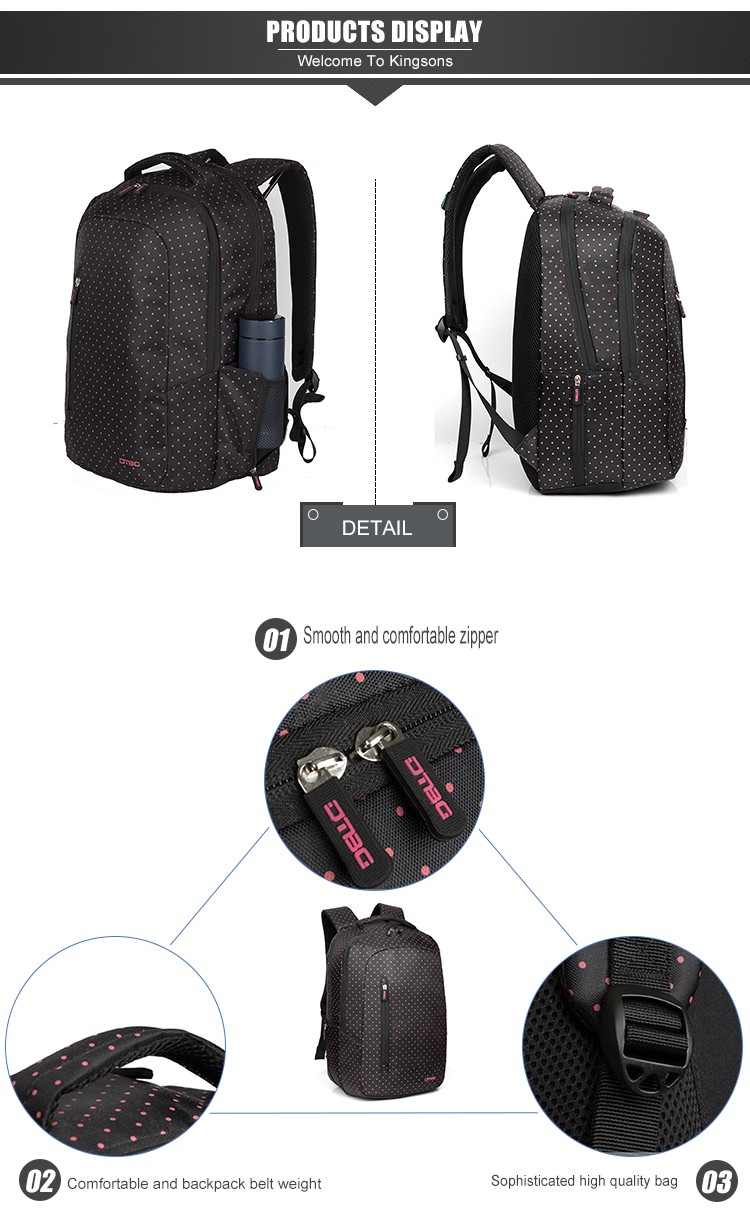 Factory direct china shenzhen big zipper backpack for women