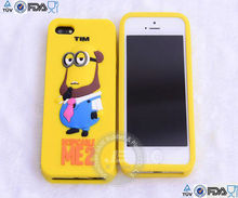 Minions design funny silicone mobile phone case for iphone