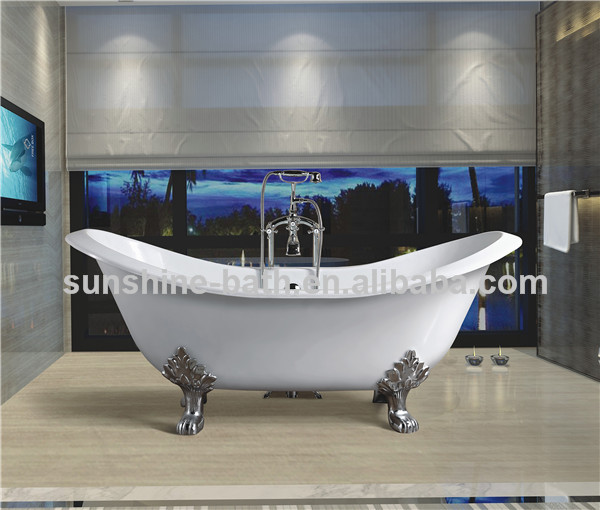 Hot sale free standing bath tub, enamel tub spa