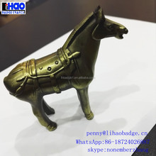 art decor golden horse sculpture with customized statue metal crafts manufacture
