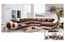 Bisini Heated Corner Leather Sofa with Recliner, Recliner Sofa Furniture