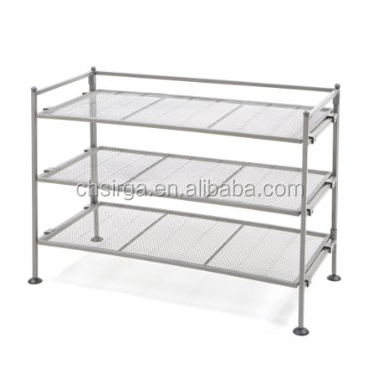 Metal Iron Frame Shoe Utility Rack, Classics 3-Tier