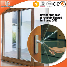 2017 Most Popular Solid Wood Lift and Sliding Doors With Inside Manual Shutter