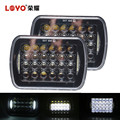 "Original High Quality 5D 72W 5x7"" Square LED Truck Light for Jeep Headlight"