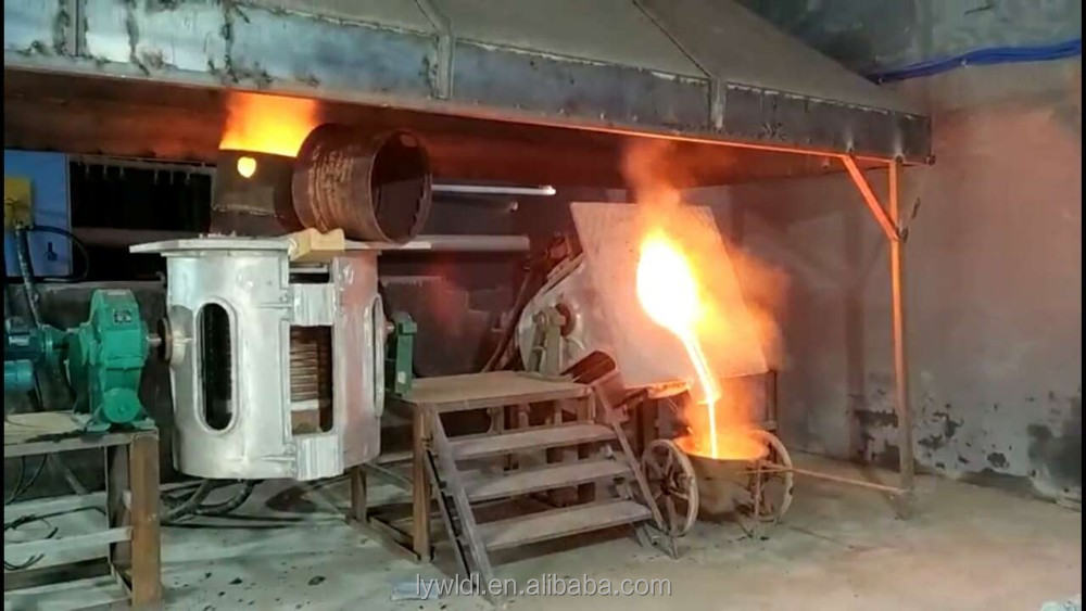 good quality 2T aluminum shell steel iron copper metal melting smelting furnace for sale