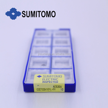 Small parts processing Sumitomo PCD inserts for diamond cutting tools CCET03X101L-FY AC530U