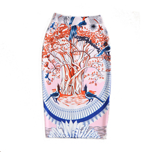 Office Lady Fashion Women Skirt Stretchy Slim Hip Knee Length High Waist Sexy Pencil Midi Skirts Womens Tube jupe longue femme