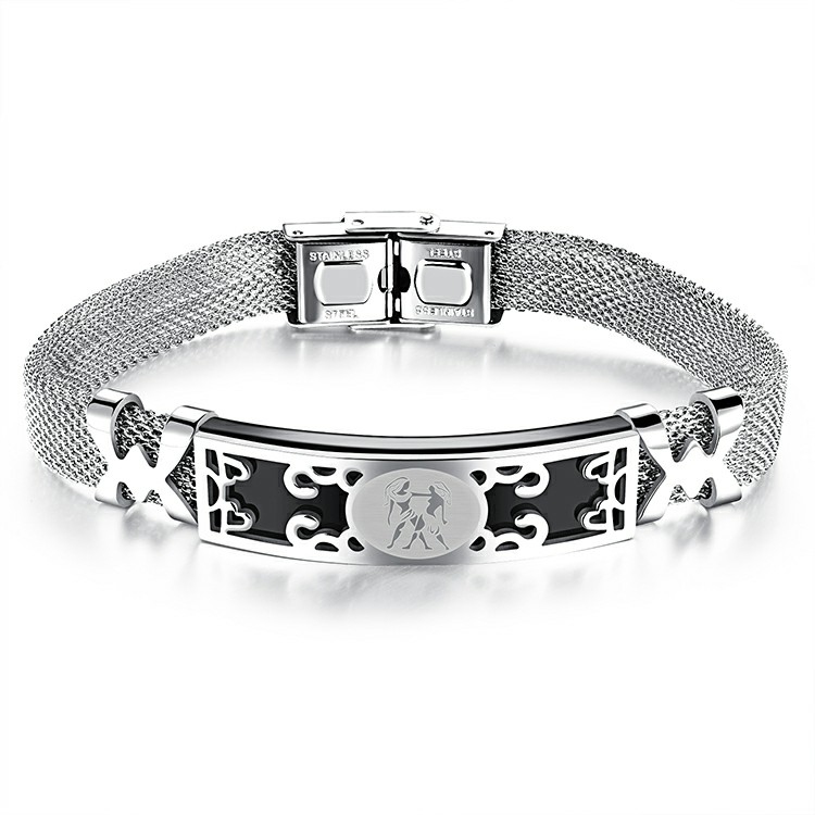 Marlary New Design Men Jewelry <strong>Accessories</strong> 316L Stainless Steel Mesh Customizable Bracelet