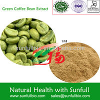 Natural Green Coffee Bean Extract / 50% chlorogenic acid