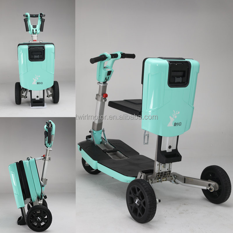 manufacturer in China high quality blue foldable 3 wheel electric scooter