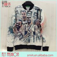 DX121# 3D tie dye print baseball jacket printing basketball stars sport coats fall/winter outdoor wear