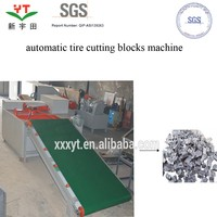waste tire strips blocks cutting machine/tire blocks cutting equipment
