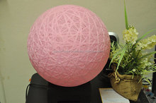 Sweet pink Cotton ball table lamp for home, bedroom decoration