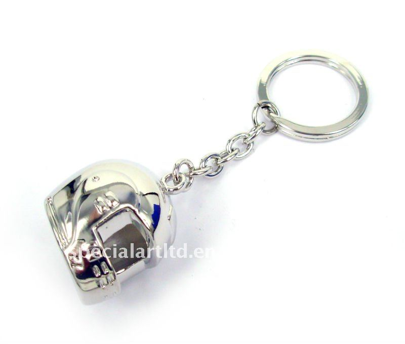 metal motorcycles helmet keychain/keyring for promotion and gifts,< 26*32*96mm>
