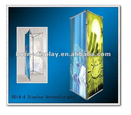 New Design Customsize Folding Triple Graphic Aluminum Material Three Feet Standing Display Screen for Display