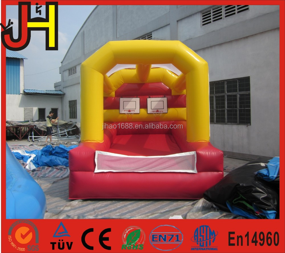 Made in China inflatable game basketball hoops, inflatable slam dunk