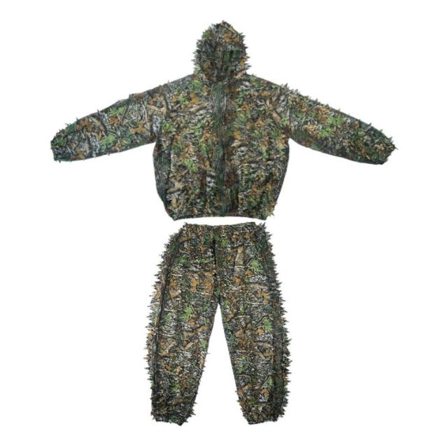 Trajes Ghillie 3D Hojas Ropa de Camuflaje de Bosque Chaqueta de Camuflaje de Hoja Camo Ej/ército Selva Militar Traje de Caza Paintball Airsoft Fotograf/ía de la Vida Silvestre Halloween