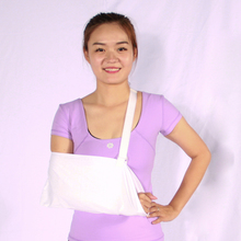 White medical arm sling orthopedic arm brace support for arm and hand wrist