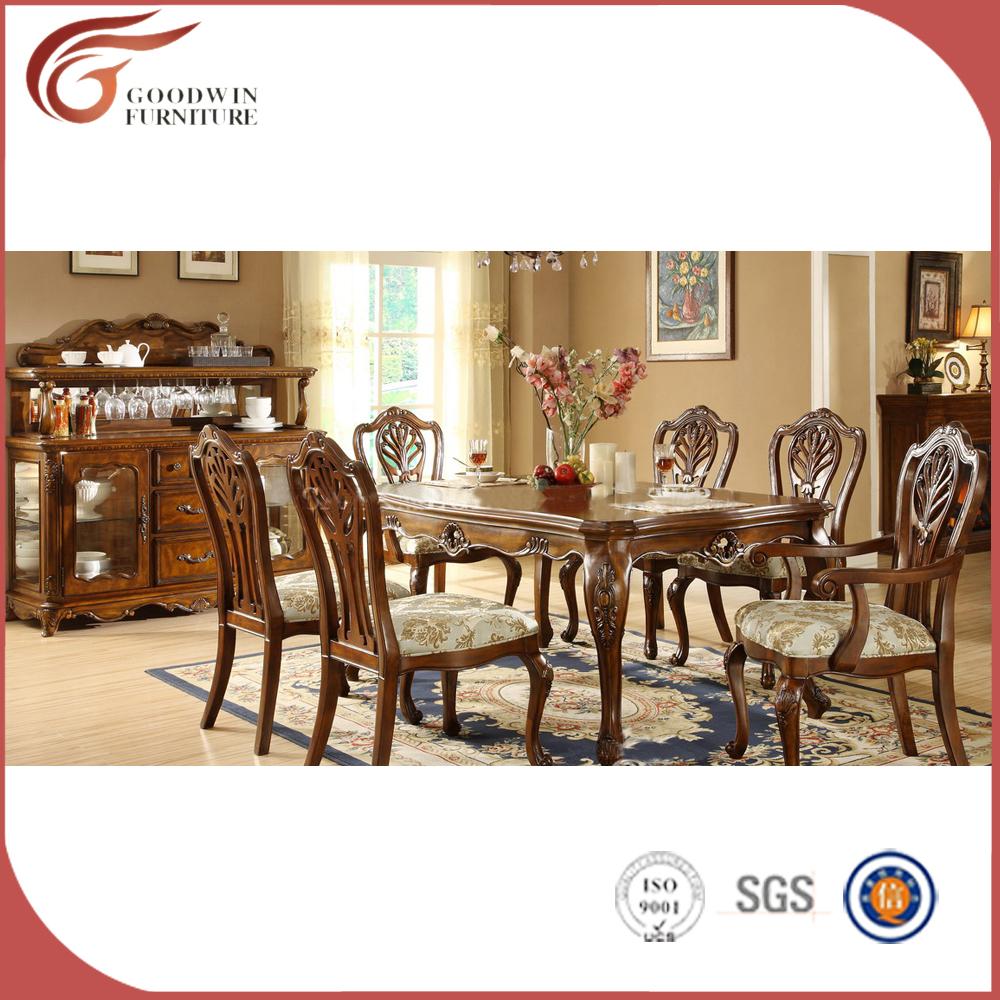 Hot Selling Antique Dining Room Set 8 Seater Oak Wood