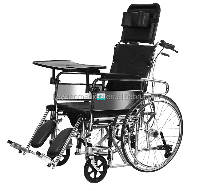 Medical equipment Rehabilitation Therapy Folding bed wheelchair with chamber pot