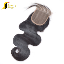 High and super quality 6A grade 4*4 human hair lace closure brazilian human hair bundles blonde silk base closure