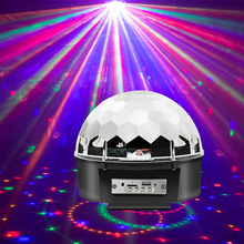 Led magic ball light for car decoration 9 color romantic effect USB connection