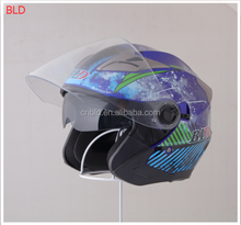 DOT ECE Open face Safty scooter helmet with sun visor ,Half face helmet BLD-708