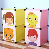 2 cubes Carton door lovely kids storage organizer closet can hold cothes, toys,books(FH-AL009-2)