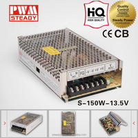STEADY S-150-13.8 150W 13.8V SINGLE OUTPUT AC/DC CE APPROVED SWITCHING POWER SUPPLY FOR LED