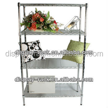 used supermarket 4 layers wire chrome shelf HSX-DR0592