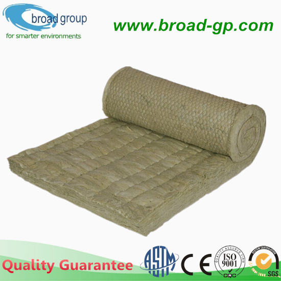 Fireproof 80kg/m3 Rock Mineral Wool Blanket Insulation