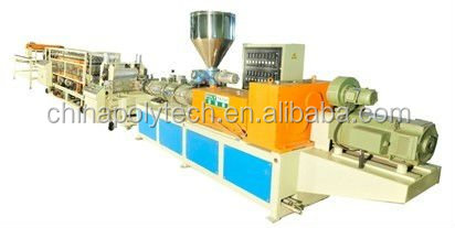 2016 PVC corrugated tile production line for roofing tile/roll forming machine /pvc glazed tile making machine